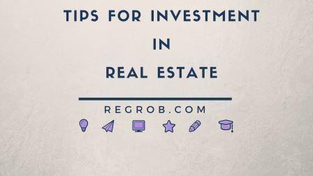 top real estate investment tips