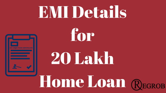 EMI for 20 lakh home loan