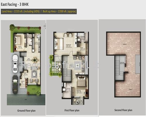 Casa Grande Neona 3 BHK Floor Plan