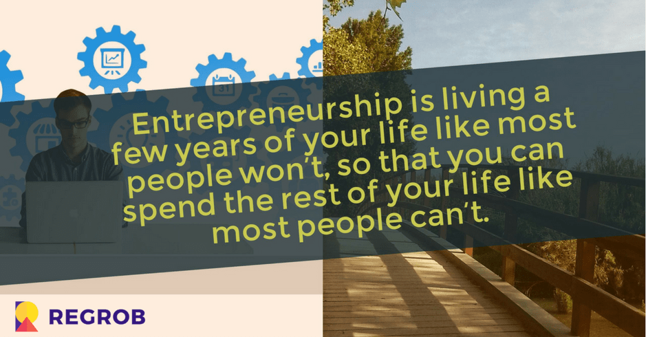 real estate entrepreneurship quote by regrob