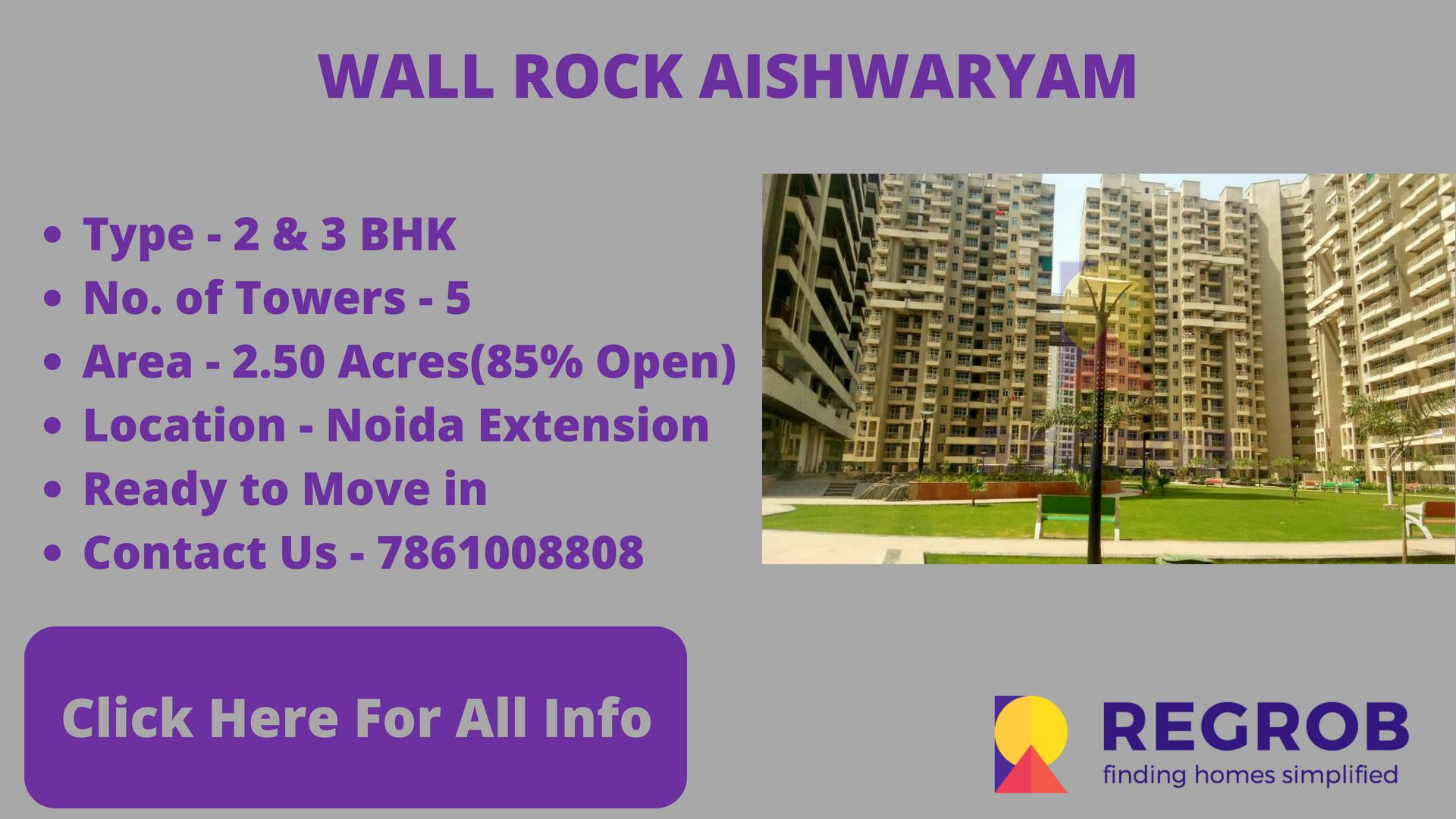 wall rock aishwaryam gaur city 2