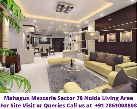 Mahagun Mezzaria Sector 78 Noida Living Araea