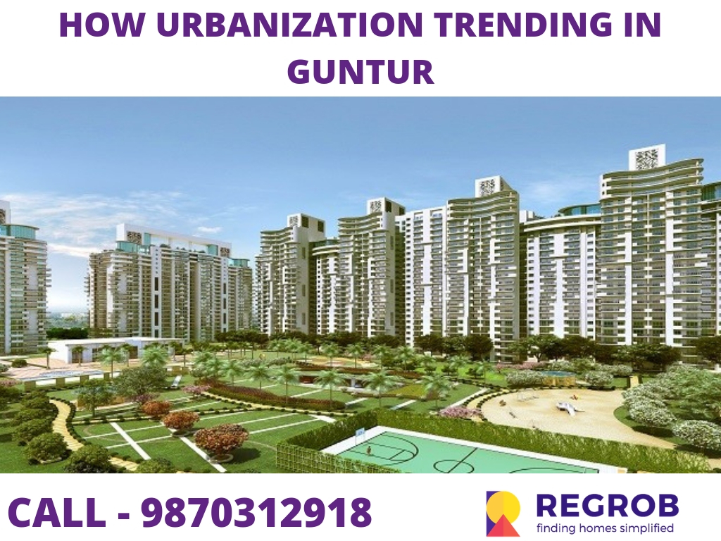 How Urbanization trending in Guntur