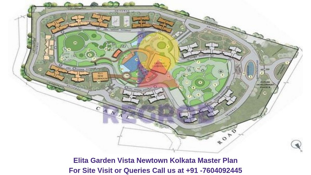 Elita Garden Vista Newtown Kolkata Master Plan