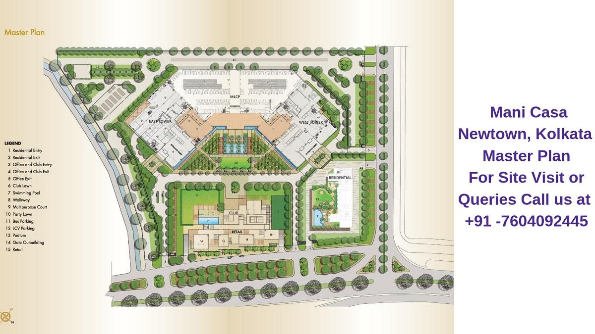 Mani Casa Newtown, Kolkata Master Plan