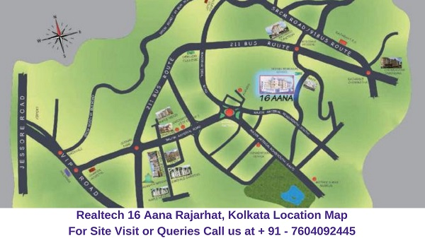 Realtech Nirman 16 Aana Rajarhat, Kolkata Location Map