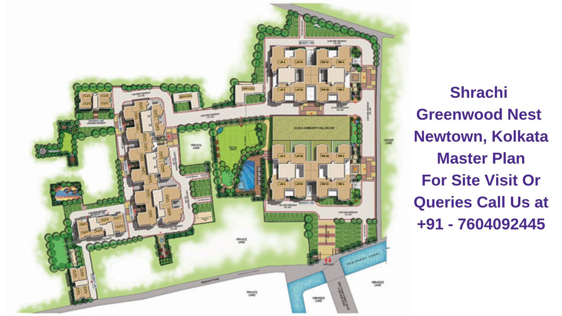 Shrachi Greenwood Nest Newtown, Kolkata Master Plan