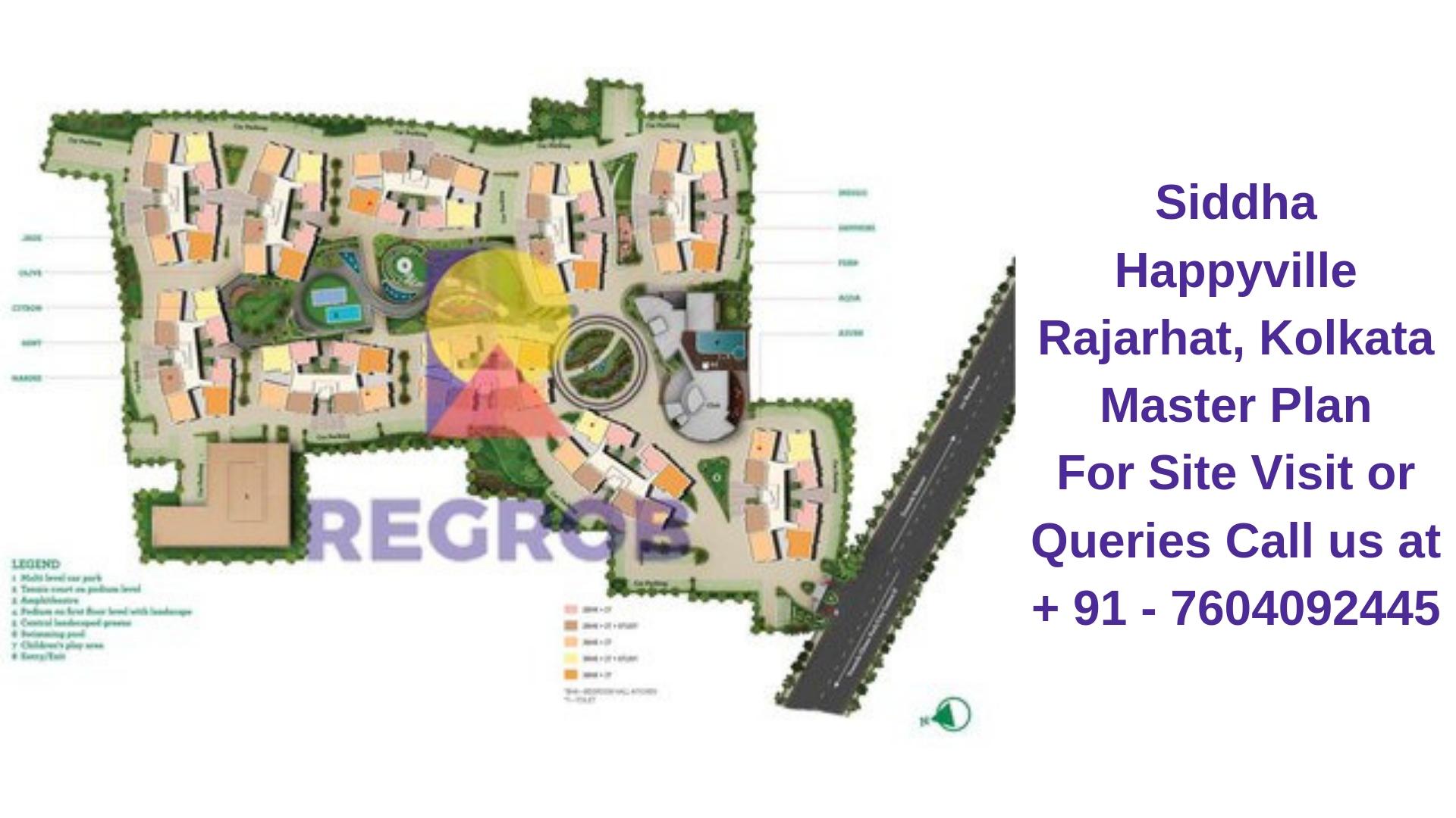 Siddha Happyville Rajarhat, Kolkata Master Plan