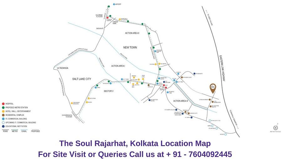 The Soul Rajarhat Kolkata Location Map