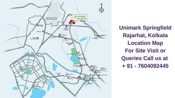 Unimark Springfield Rajarhat, Kolkata Location Map