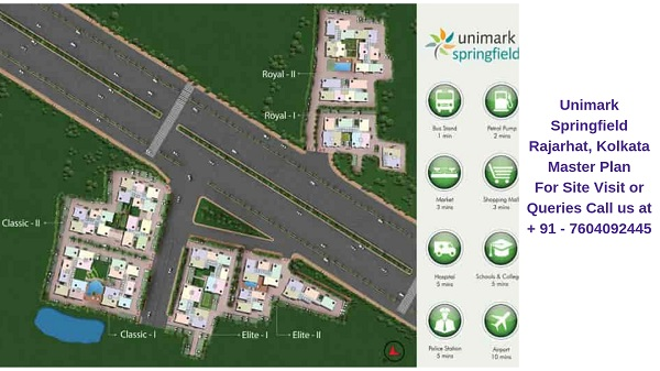Unimark Springfield Rajarhat, Kolkata Master Plan