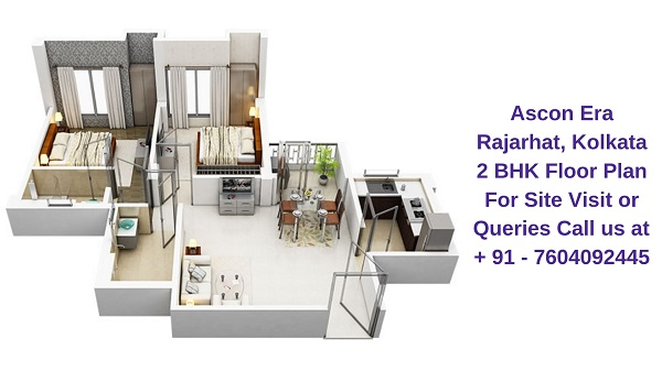Ascon Era Rajarhat, Kolkata 2 BHK Floor Plan