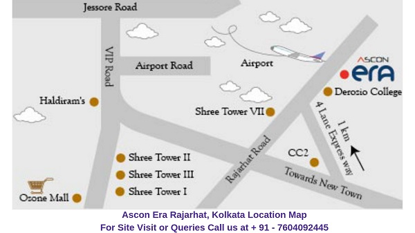 Ascon Era Rajarhat, Kolkata Location Map