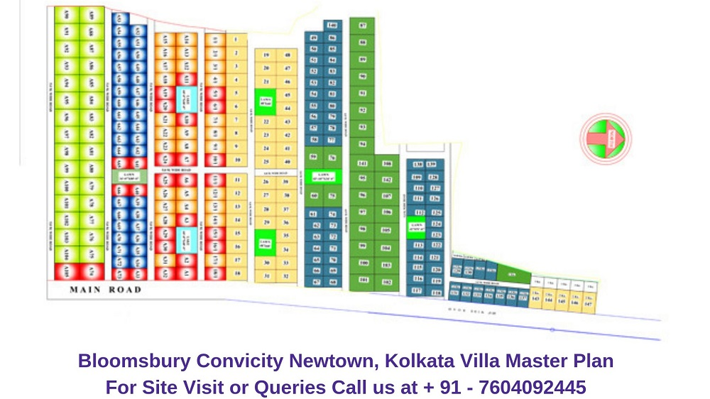 Bloomsbury Convicity Newtown, Kolkata Villa Master Plan