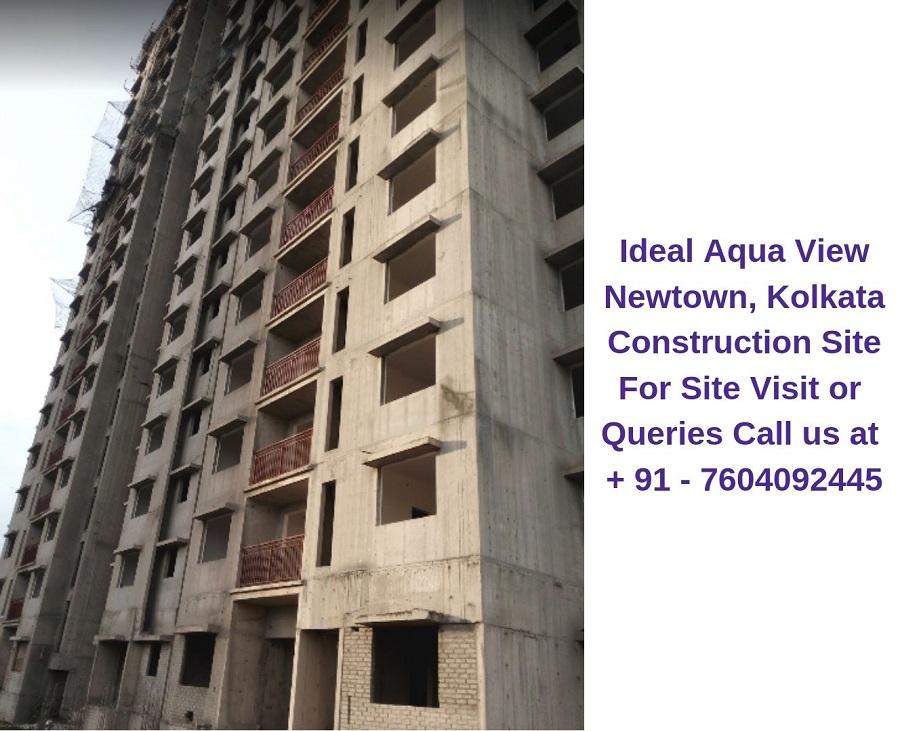 Ideal Aqua View Newtown, Kolkata Construction Site (2)