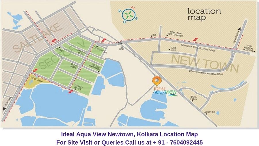 Ideal Aqua View Newtown, Kolkata Location Map