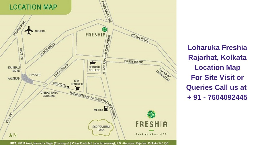Loharuka Freshia Rajarhat Kolkata Location Map