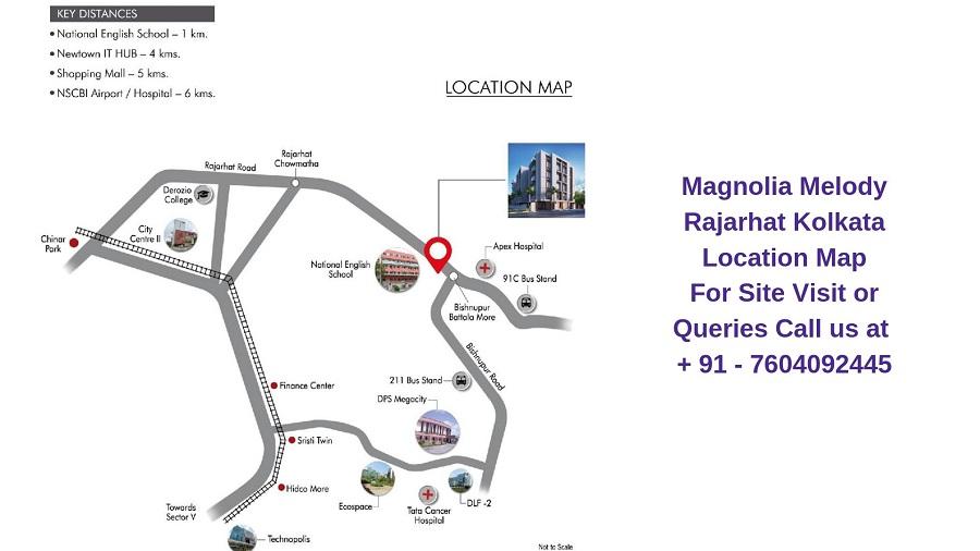 Magnolia Melody Rajarhat Kolkata Location Map