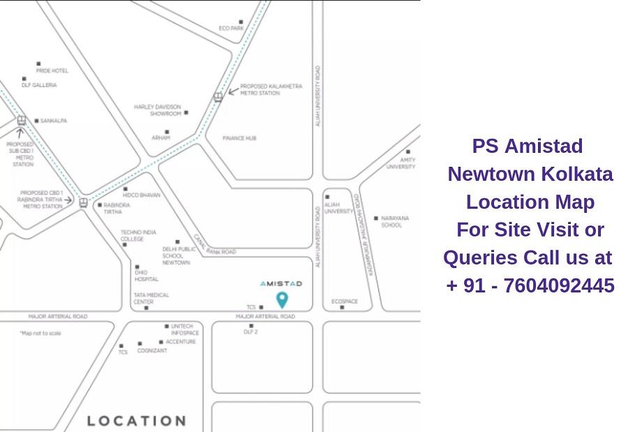 PS Amistad Newtown Kolkata Location Map