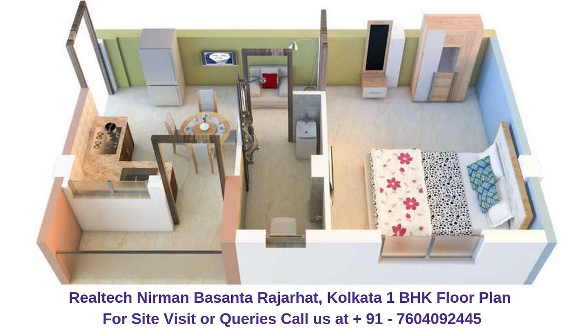 Realtech Nirman Basanta Rajarhat, Kolkata 1 BHK Floor Plan