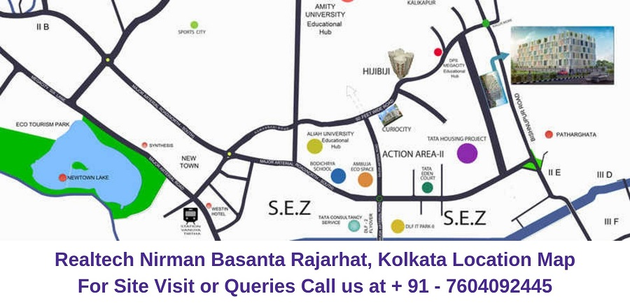 Realtech Nirman Basanta Rajarhat, Kolkata Location Map