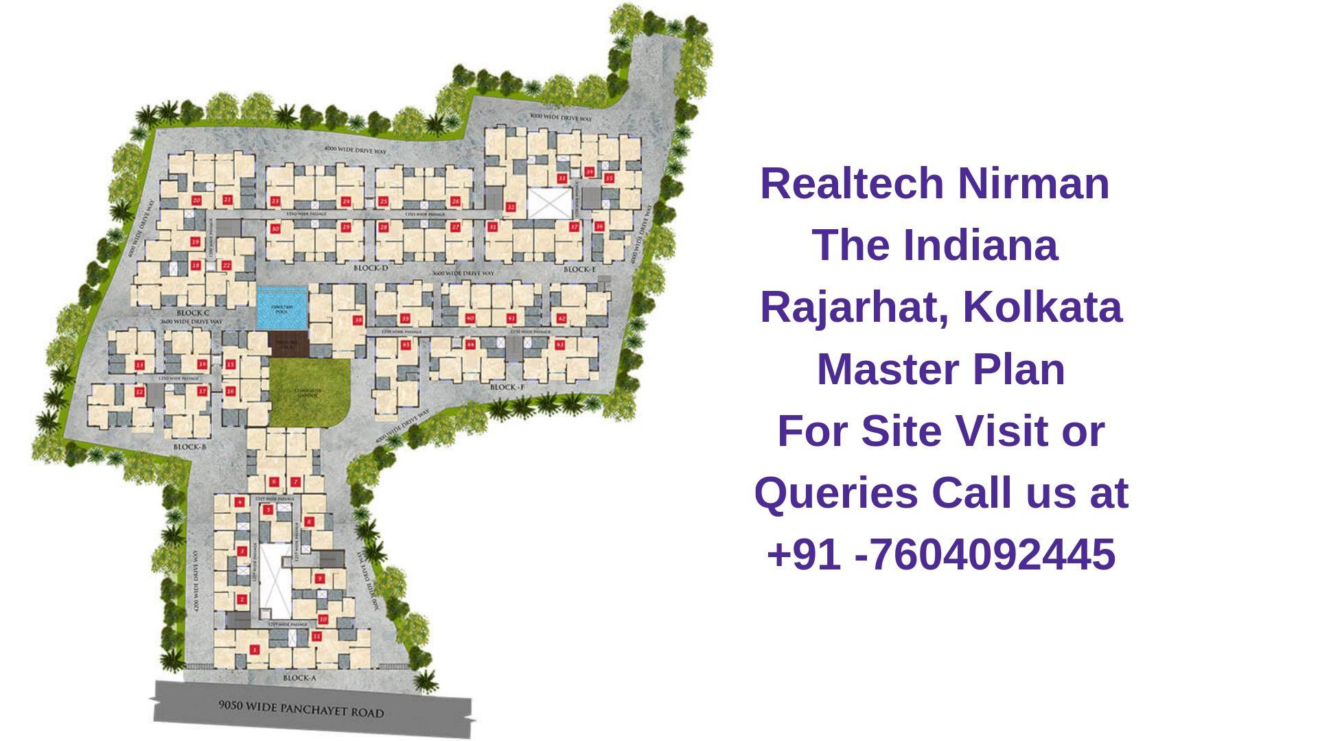 Realtech Nirman The Indiana Rajarhat, Kolkata Master Plan