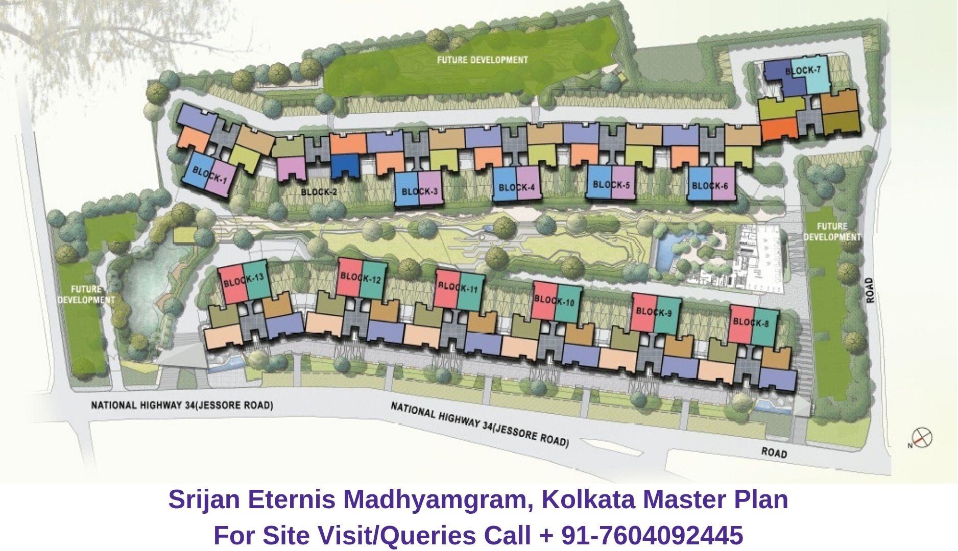 Srijan Eternis Madhyamgram, Kolkata Master Plan