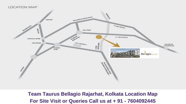 Team Taurus Bellagio Rajarhat, Kolkata Location Map