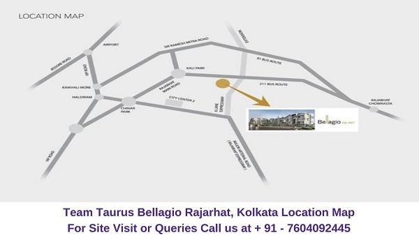 Team Taurus Bellagio Rajarhat, Kolkata Location Map