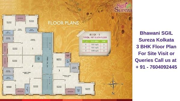 Bhawani SGIL Sureza Kolkata 3 BHK Floor Plan