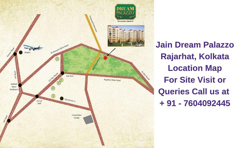 Jain Dream Palazzo Rajarhat, Kolkata Location Map