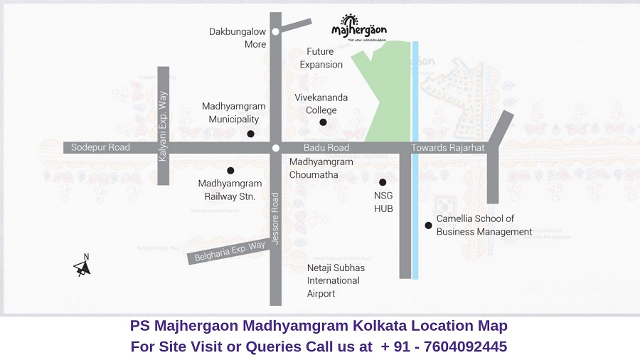 PS Majhergaon Madhyamgram Kolkata Location Map