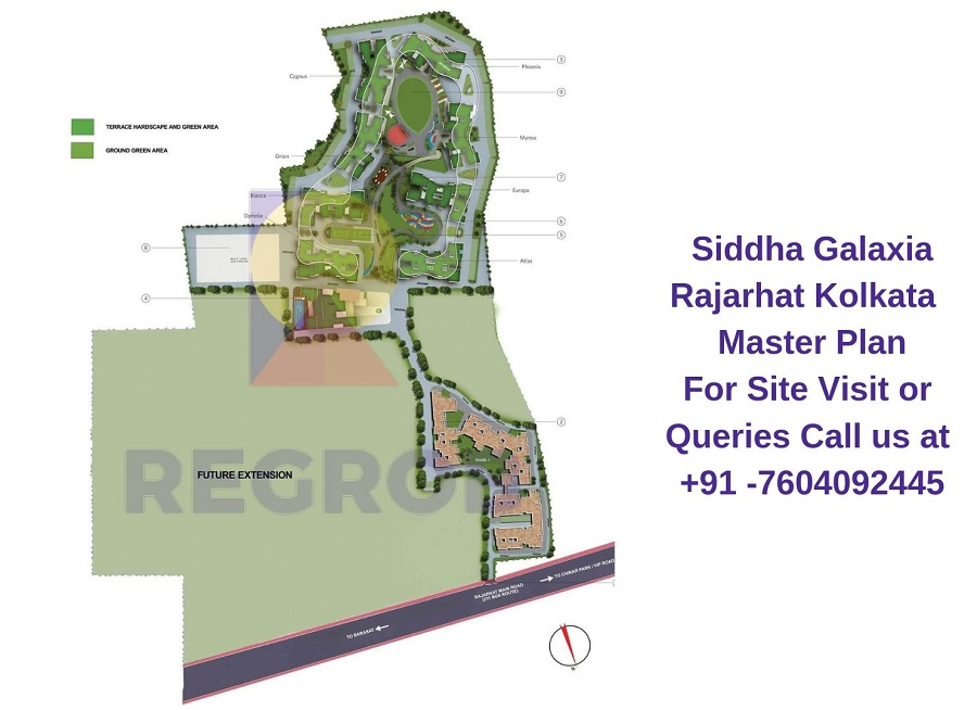Siddha Galaxia Rajarhat Kolkata Master Plan