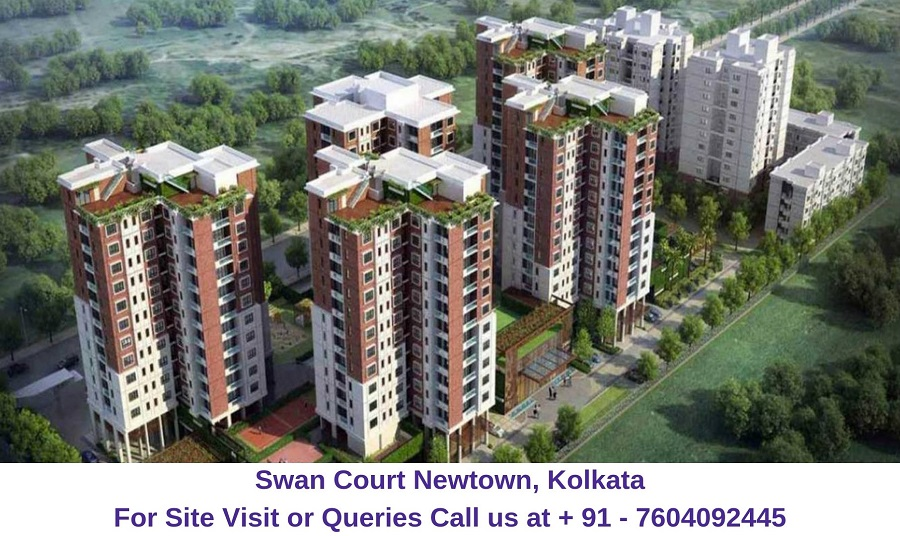 Swan Court Newtown, Kolkata Layout Plan