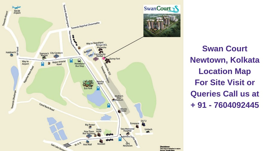 Swan Court Newtown, Kolkata Location Map