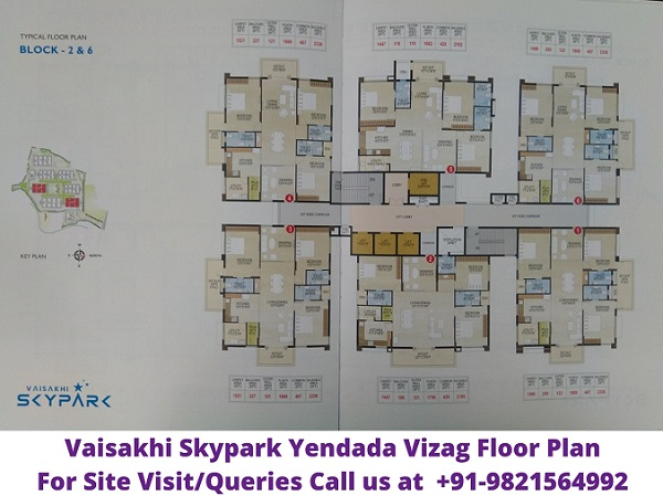 Vaisakhi Skypark Yendada Vizag Floor Plan