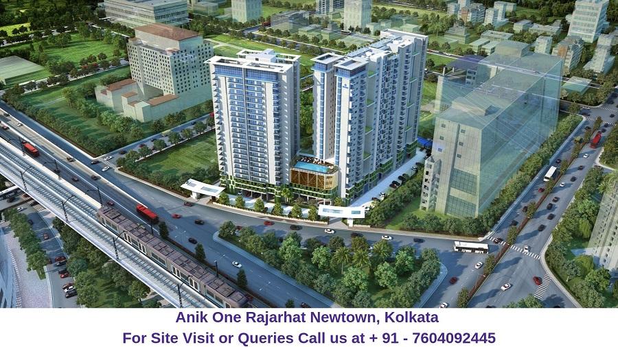 Anik One Rajarhat Newtown, Kolkata Aerial View