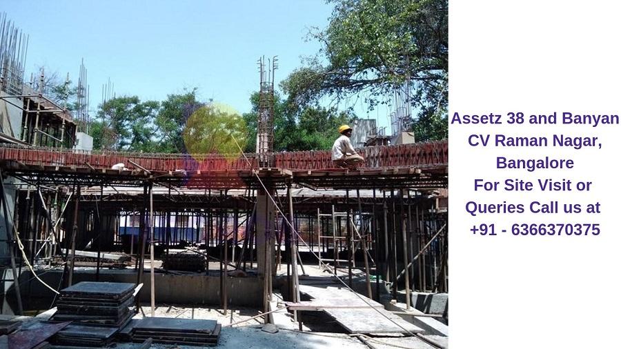 Assetz 38 and Banyan CV Raman Nagar, Bangalore Construction Site (1)