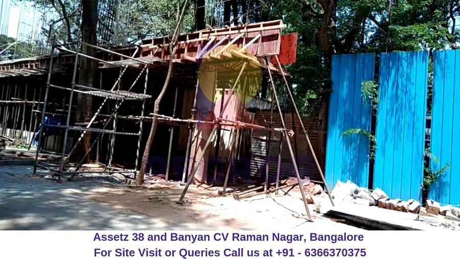 Assetz 38 and Banyan CV Raman Nagar, Bangalore Construction Site (2)