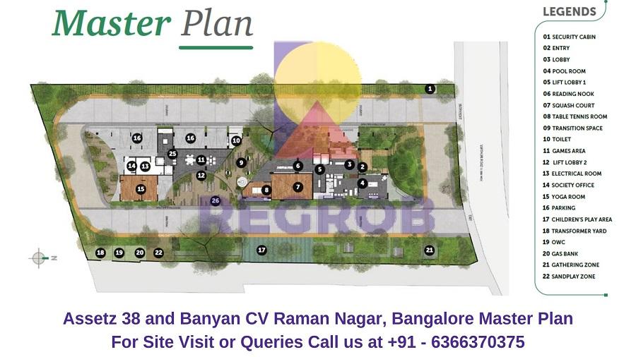 Assetz 38 and Banyan CV Raman Nagar, Bangalore Master Plan