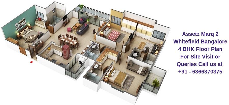 Assetz Marq 2 Whitefield Bangalore 4 BHK Floor Plan