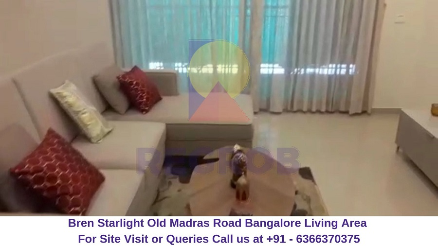 Bren Starlight Old Madras Road Bangalore Living Area