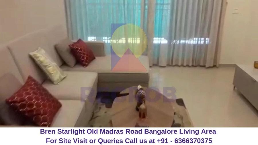 Bren Starlight Old Madras Road Bangalore Living Area