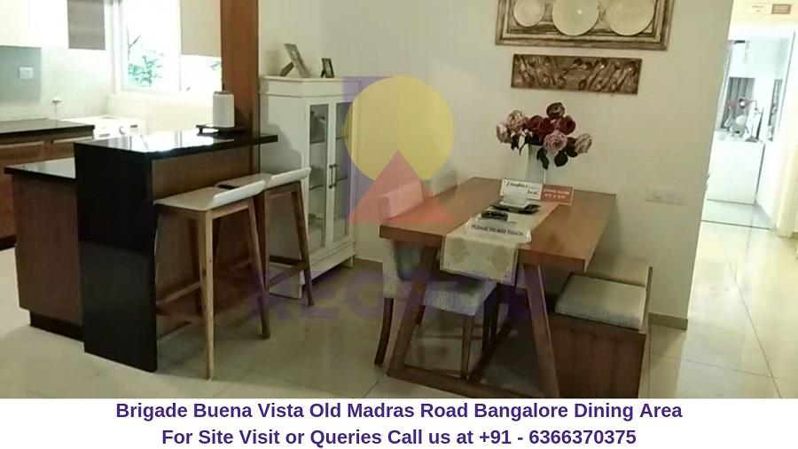 Brigade Buena Vista Old Madras Road Bangalore Dining Area