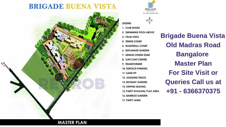 Brigade Buena Vista Old Madras Road Bangalore Master Plan