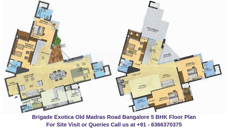 Brigade Exotica Old Madras Road Bangalore 5 Bhk Floor Plan Regrob