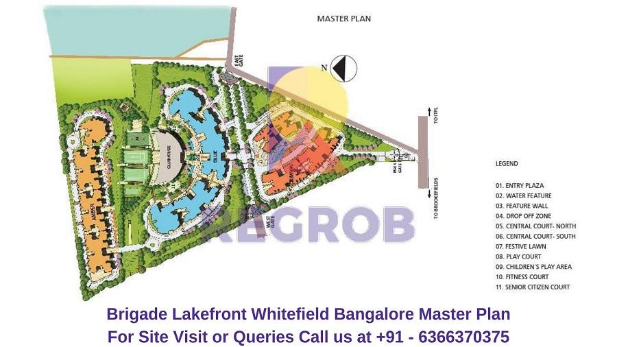 Brigade Lakefront Whitefield Bangalore Master Plan