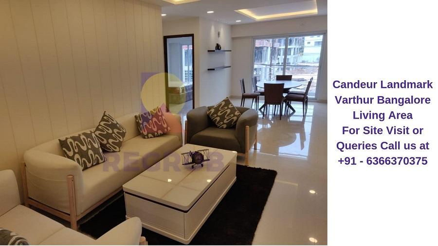 Candeur Landmark Varthur Bangalore Living Area