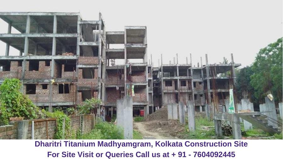 Dharitri Titanium Madhyamgram, Kolkata Actual Image of Construction Site (2)