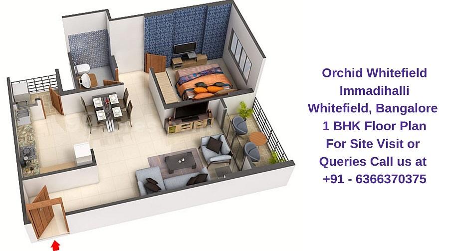 Orchid Whitefield Immadihalli Whitefield,Bangalore 1 BHK Floor Plan